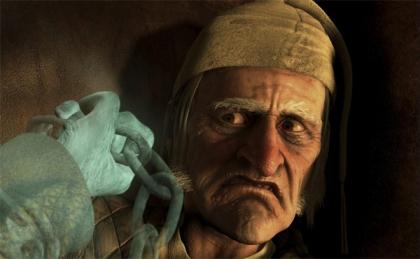 A CHRISTMAS CAROL Jim Carrey as Ebenezer Scrooge